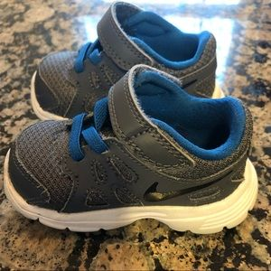 Toddler, Baby Grey and Blue Nike's; Size 3 (3C)